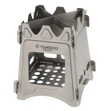 TOMSHOO Titanium Wood Burning Stove Portable Backpacking Camping Outdoor Firewood Furnace Lightweight Picnic Survival Cooking tomshoo l