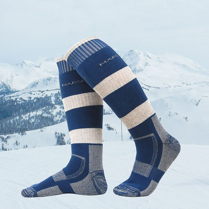 Men Women Running Sport Thermal Stockings Socks Thick Wool Winter Snowboard Ski Cycling Basketball Leg Warmer Socks