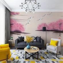 Украшение текстильные обои китайский стиль чернила ручная роспись цветы и птицы белый журавль фоновая стена