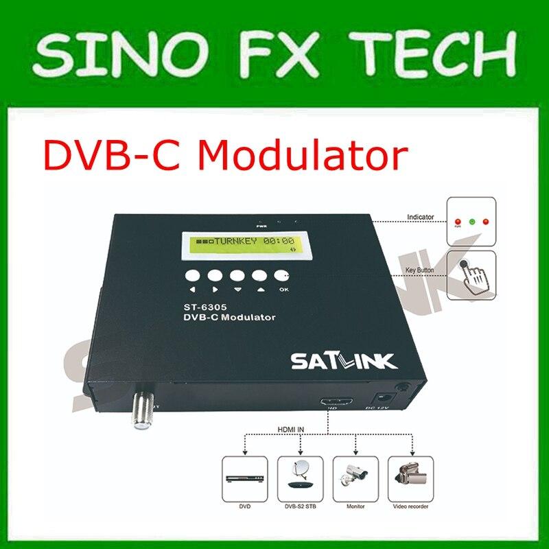 Satlink ST-6305 DVB-C модулятор HD 1080 P MPEG2 ST6305 DVB-C 1 Маршрут модулятор вход модулятор преобразует dvb-c канал