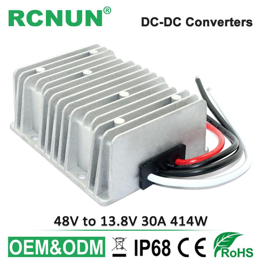 e4b8c8e68e RCNUN DC DC Passo Imbottiture Convertitore 36 V 48 V a 13.8 V 30A ...