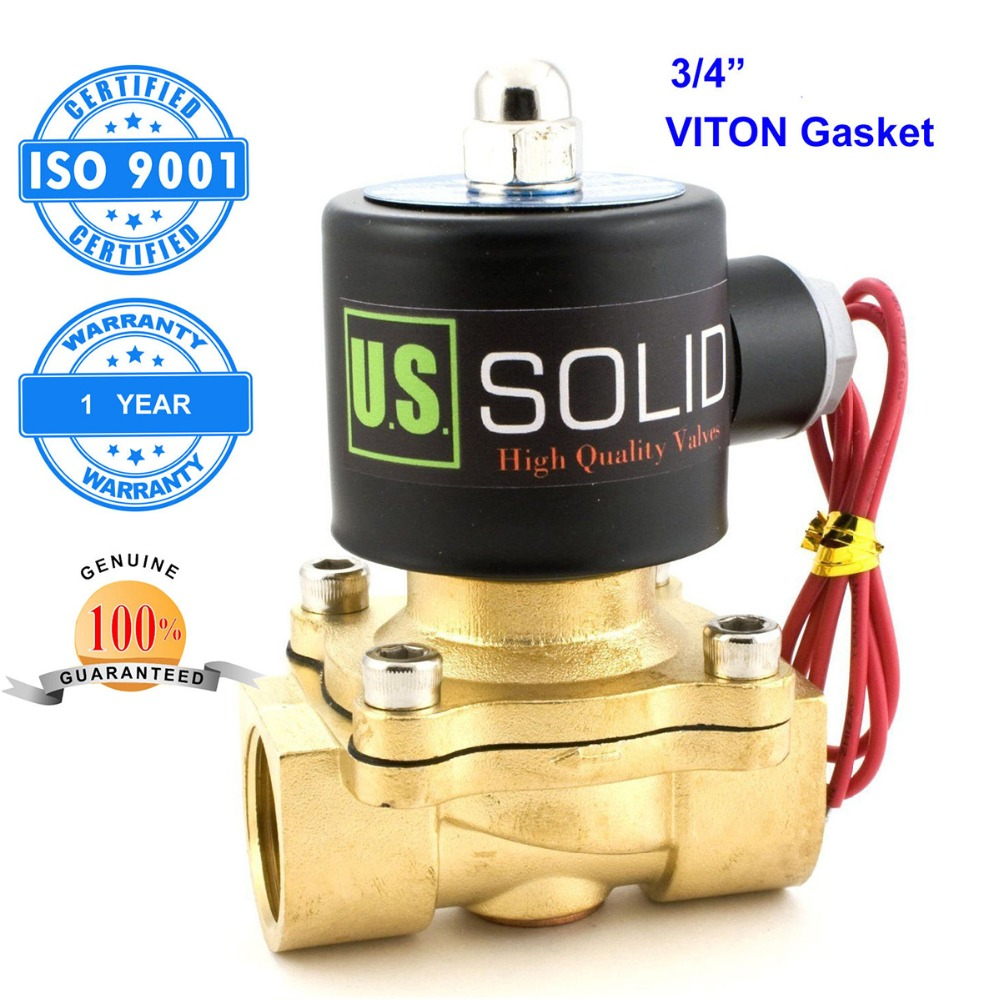 U S Solid 1 2 3 4 1 Brass Electric Solenoid Valve NPT Thread Normally Closed