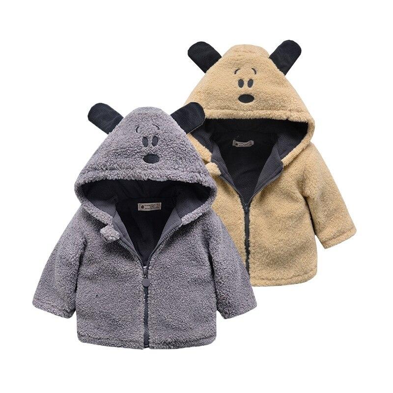 e68d8c699 Baby Girls Boys Winter Warm Coat Kids Fleece 3D Rabbit Ear Fur ...