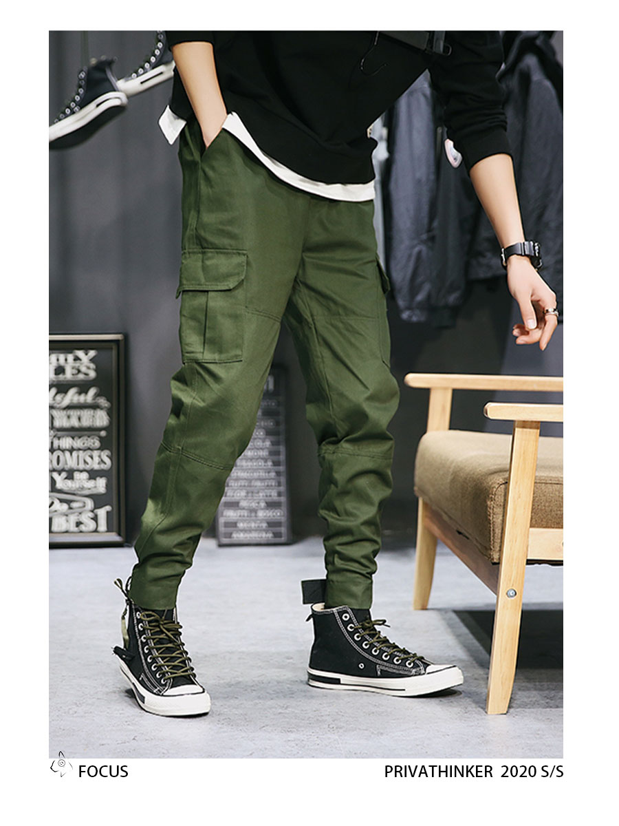 Privathinker Cargo Pants Men 2020 Mens Streetwear Joogers Pants Black Sweatpant Male Hiphop Autumn Pockets Trousers Overalls 68