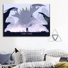 1 Pieces Canvas Painting Modern Home Wall Decorative Artwork Printed Type  Game God of War And Kratos HD Pictures