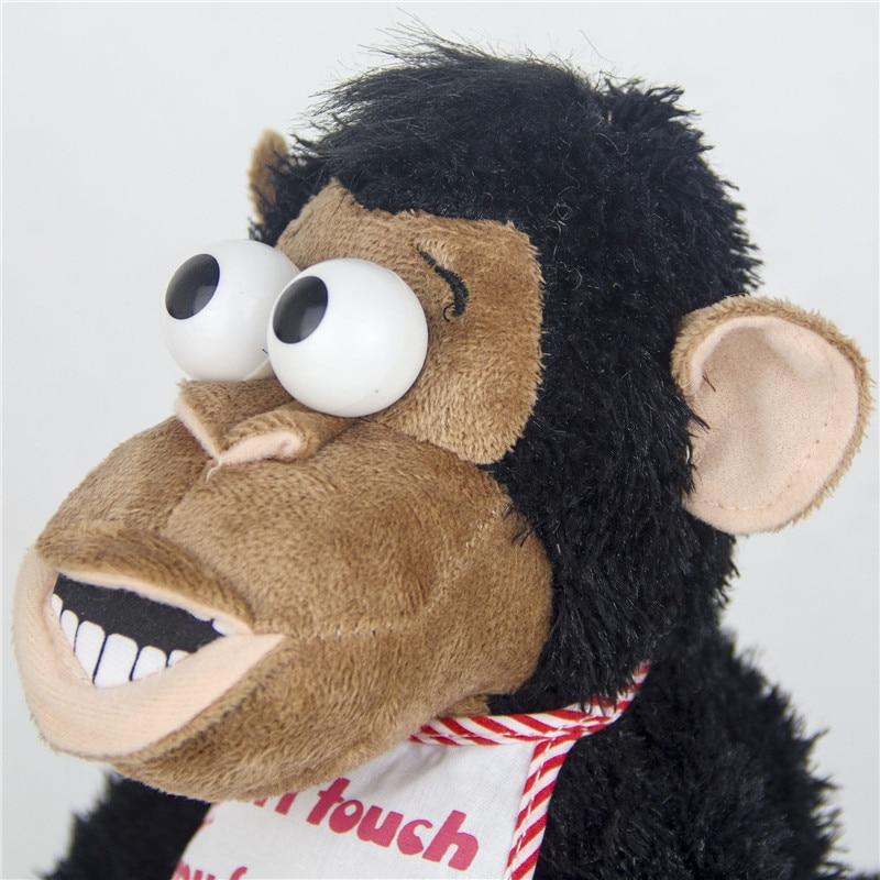 Magnetic Control Standing Monkey Electric Plush Orangutan Toys Gift for Boys Kids Children Take Away Banana Will Jump and Scream 2