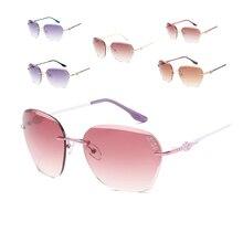 Rahmenlose Retro Sonnenbrille Frauen sonnenbrille UV400 PC objektiv Metall bein Sonnenbrille Block Sonnenbrille Kostenloser lieferung Outdoor Sonnenbrille