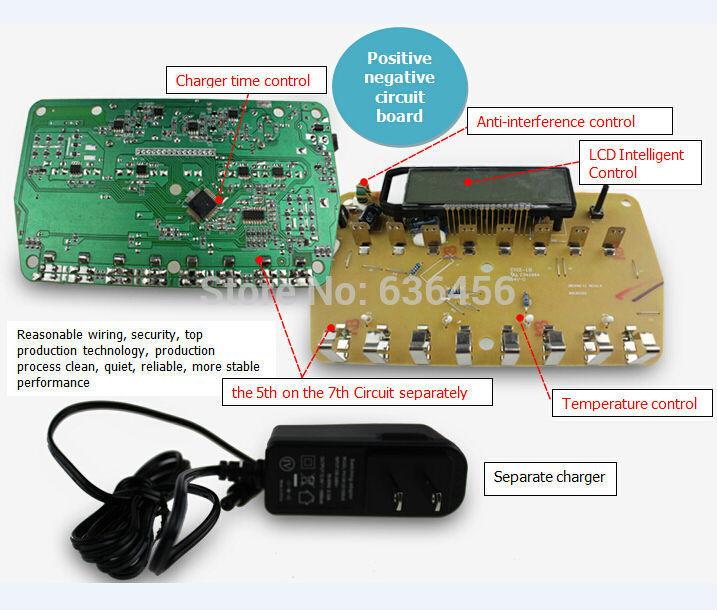 New 16 solts LCD Smart Battery Charger AA AAA Ni-MH Ni-Cd 16-bay 16-Slot 16-Bank charger 4