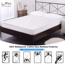LFH 90X200CM Cotton Terry Waterproof Mattress Protector Nursing Mattress Cover For Bed Baby Crib Mattress Pad Cover Anti Mites