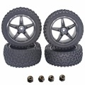 4pcs/Lot Rubber RC 1/10 Buggy Wheels & Tires 12mm Hex Hub Mount For RC Off Road Car HSP HPI