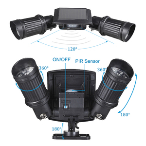 Image 4 - סופר מואר 14 LED עמיד למים PIR חיישן תנועת שמש מופעל אור, led שמש אורות גן אבטחת מנורת חיצוני רחוב אור