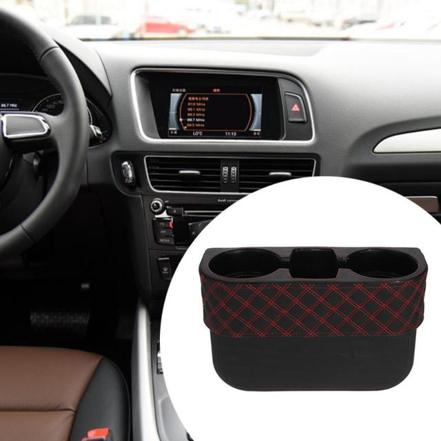 VODOOL Universal Car Auto Cup Holder Portable Vehicle Seat Black Interior Organizer