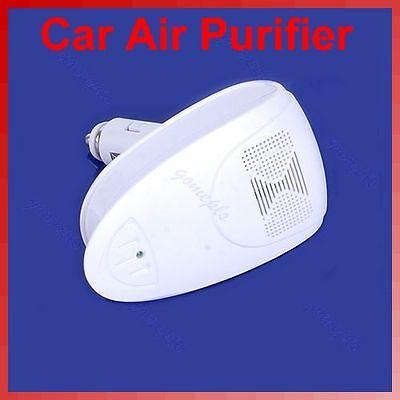 "B86""White Auto Car Fresh Air Purifier Oxygen Bar Ionizer New-in Air Purifiers from Home"