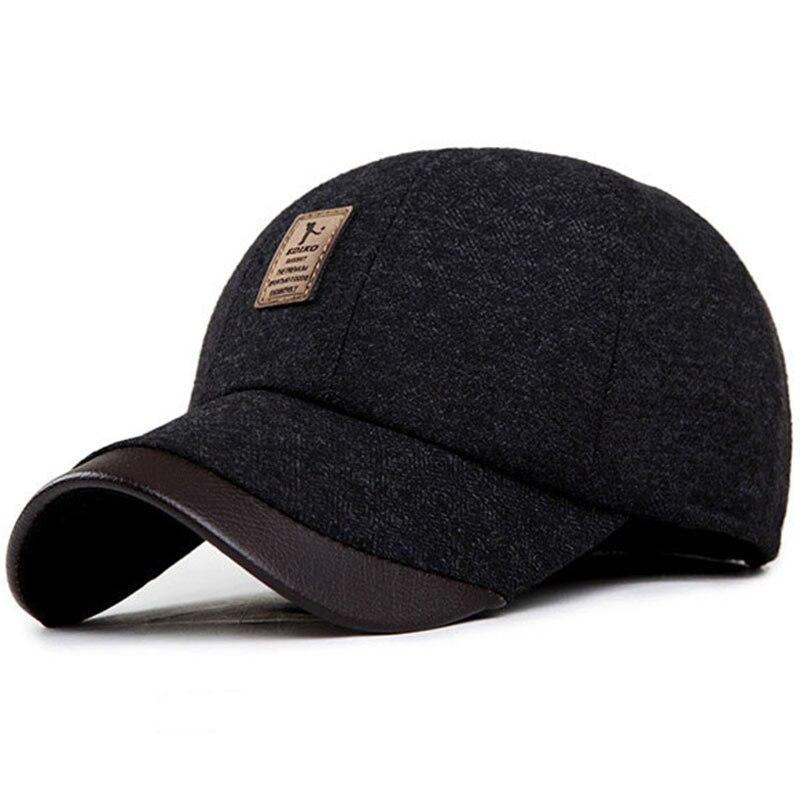 Kioninai 2017 invierno sombrero SnapBack gorras con orejeras gorra de  béisbol de lana ediko papá gorras planas casquette para el hombre en Gorras  de béisbol ... 9374df818ea