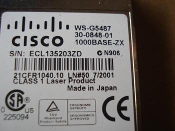 WS-G5487 1550nm 1000BASE-ZX GBIC 70KM SC
