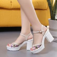 Casual High-Heels Women Sandals Leisure Mixed Color