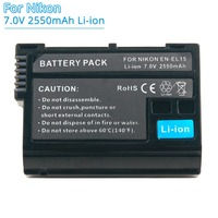 ENEL15 EN-EL15 EN-El15a 2550 мА/ч, Перезаряжаемые Замена Камера Батарея для Nikon D500 D750 D7100 D7000 D800 D600 D7200 D7500