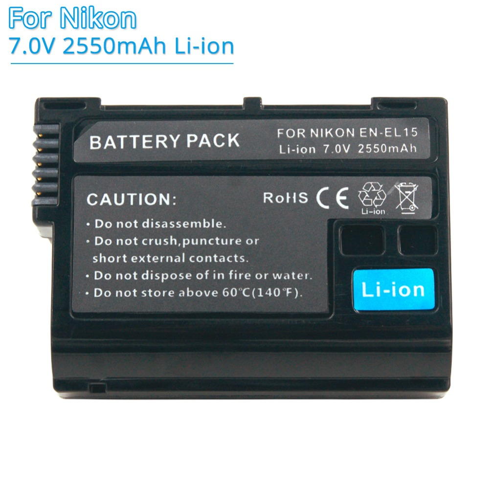 Unterhaltungselektronik Batterien Enel15 En-el15 En-el15a 2550 Mah Wiederaufladbare Ersatz Kamera Akku Für Nikon D500 D750 D7100 D7000 D800 D600 D7200 D7500 Spezieller Sommer Sale
