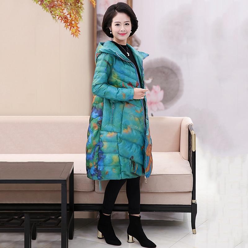 Color Coton Veste Grande Haute À Impression Survêtement Moyen Taille Lâche De Dd826 Mode Qualité Longue Photo Manteau Mi Hiver D'âge Capuchon zwTRwqC