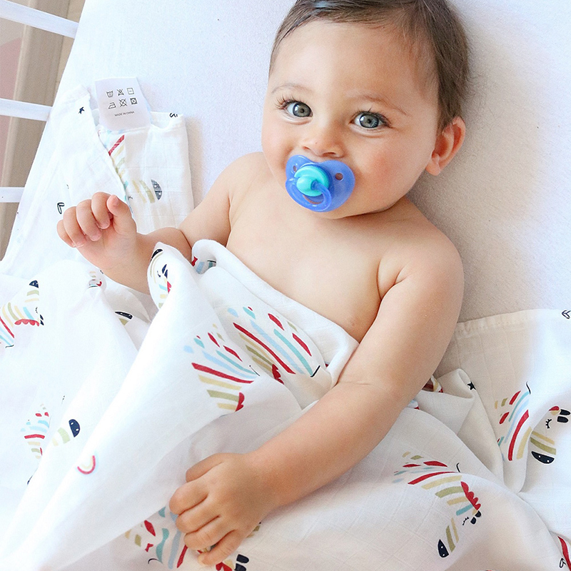 Baby Bamboo Blanket Pattern: Muslin Baby Blanket For Summer Baby Swaddle 70% Bamboo
