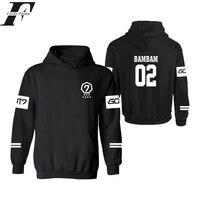 Hip Hop Big Kích Thước Hàn Quốc Phổ Biến Nhóm Got7 mens Hoodies và áo moletom masculino tracksuit hoodie oversized hoodie