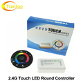2.4G RF RGB Controler Touch Screen Round Controller DC12-24V 3 Channel for RGB LED Strip.