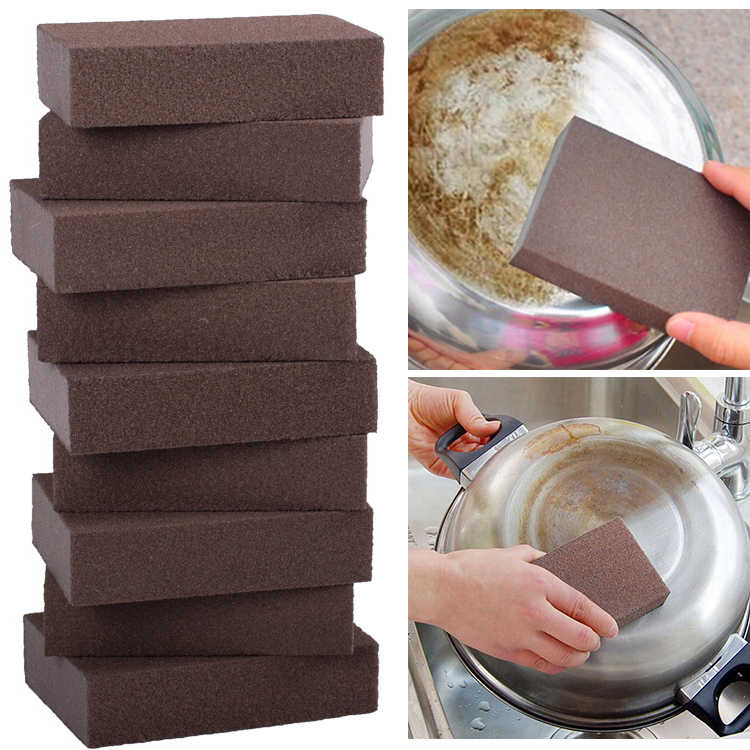Carborundum Sponge Brush Kitchen Cleaning Washing Tool Rust Removing Cleaner Kitchen Home Rust Removing Cleaner Stain Removal