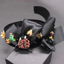 Diadema Nueva Barroca de escarabajo, accesorios para el cabello Lazo, Bola de moda, 594