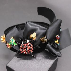 Image 1 - New Baroque exaggerated wild headband  beetle bee bow hair accessories fashion ball wild headband 594