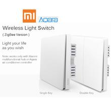 Xiaomi Aqara Wall Switch Smart Light Control ZigBee Version Wireless Connection single double key smart mi home mijia APP Remote