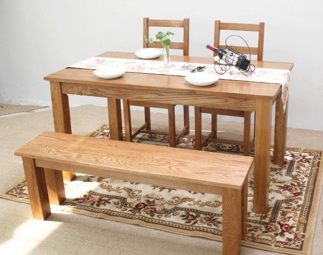 Pure Solid Wood Bench Stool Benches Long Chairs Restaurant Ikea Furniture American Countryside