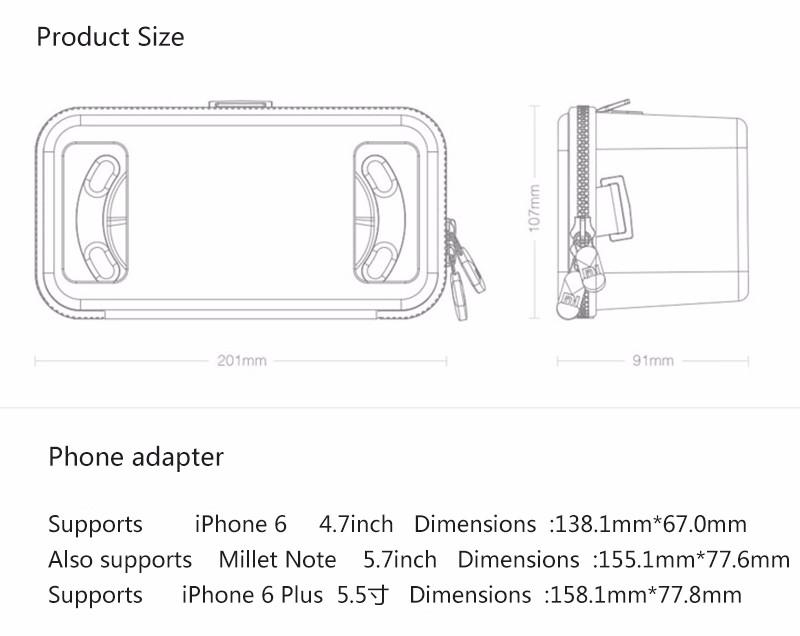 Original Xiaomi VR Virtual Reality 3D Glasses Mi VR Box 3D Virtual Reality Glasses cardboard MI VR For iphone 7 Xiaomi Samsung (5)