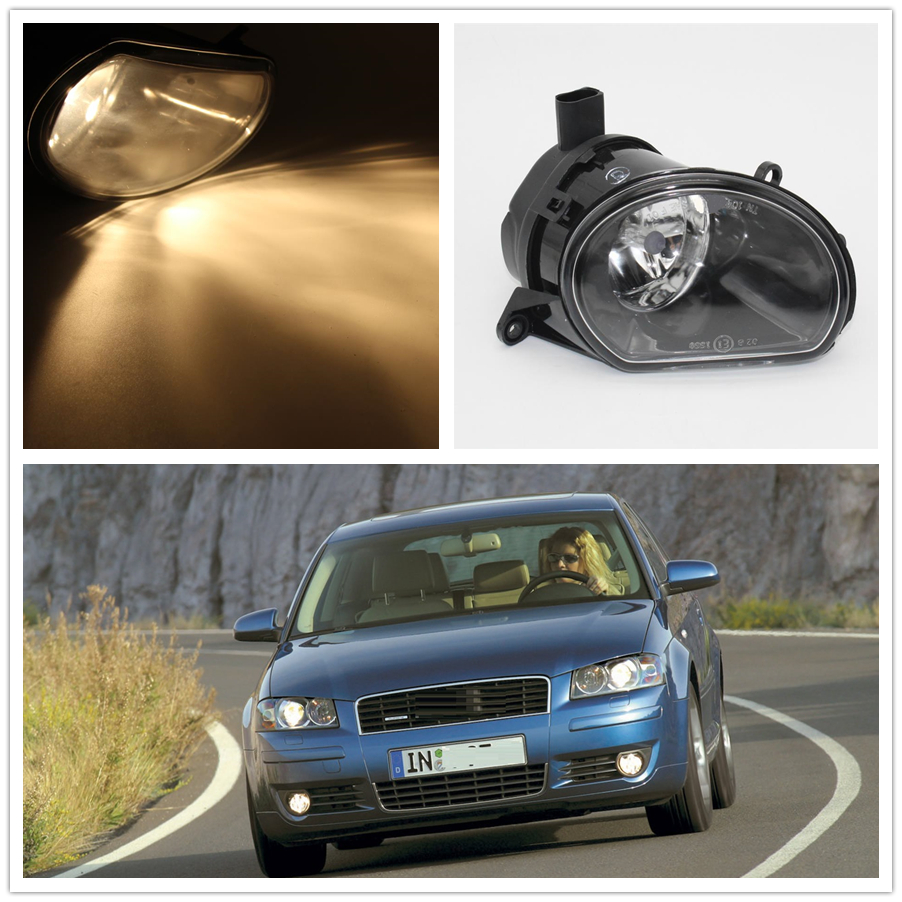 For Audi A3 2003 2004 2005 2006 2007 2008 Car-styling Front Halogen Bumper Fog Lamp Fog Light Left Driver Side front bumper fog lamp grille led convex lens fog light angel eyes for vw polo 2001 2002 2003 2004 2005 drl car accessory p364