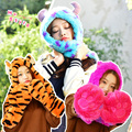 1.1M Alice in Wonderland Cheshire Cat Cosplay Plush Hat Toy Sullivan Winnie Tiger Cartoon Plush Hat Scarf Glove