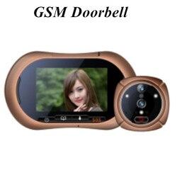3.7 بوصة gsm/sms عارض الفيديو باب الهاتف مع وظيفة sos