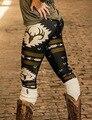 Женщины Леггинсы 2017 Мода 3D Рождественский Олень Отпечатано Леггинсы Случайные тонкий Карандаш Брюки Легинсы Сексуальная Хип Push Up Брюки теплые новый