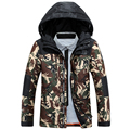Winter new fashion camouflage down jacket men thick camouflage short hooded jacket and coat patchwork printed men's clothing