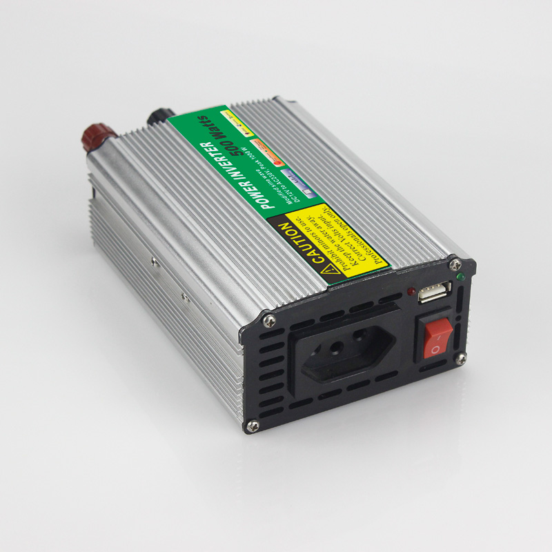 500W Car Power Inverter Converter DC 12V Modified Sine Wave Power Solar inverters to AC 110V or 220V off grid tie solar system 500w solar inverters 85 125v grid tie inverter to ac120v or 230v high efficiency for 72v battery adjustable power output