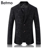 2017 New Arrival Cotton Famous Brand Casual Thin Printed Blazer Men Business Blazer Jacket Plus Size