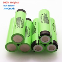Dolidada new 100% original 18650 battery 3400mah 3.7v lithium battery for NCR18650B 3400mah flashlight battery.