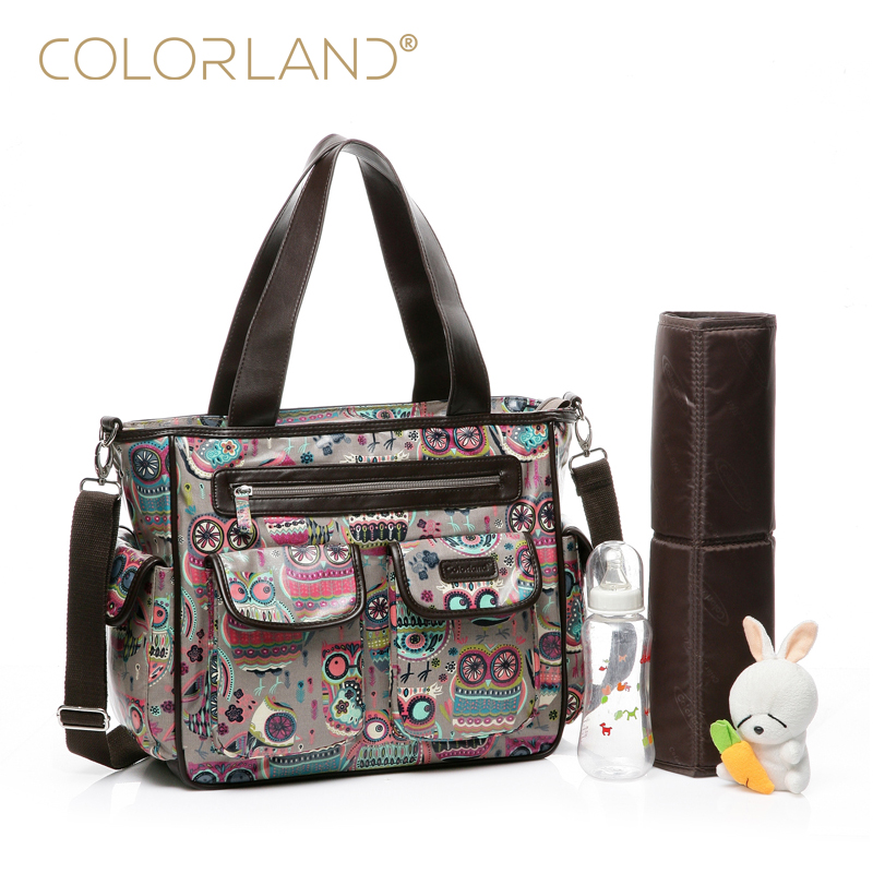 COLORLAND Designer Baby Diaper Bags for Mom Brand Nappy Maternity Bag for Stroller Baby Care Bag Handbags for Moms TT189 colorland brand baby stroller bag baby for mom diaper bag organizer nappy bags for pram maternity mother bags diaper backpack