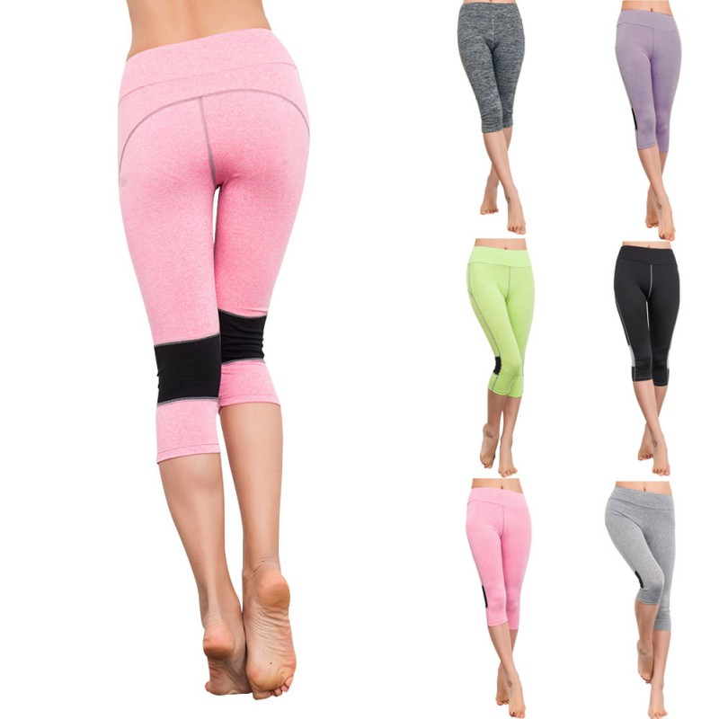 Spandex Capri Workout Pants