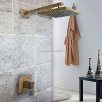 Factory Direct 100% Lead Free All Copper Bath Tub Mixer Tap Antique Bathroom Shower Set In The Fountain With Brass Shower Head
