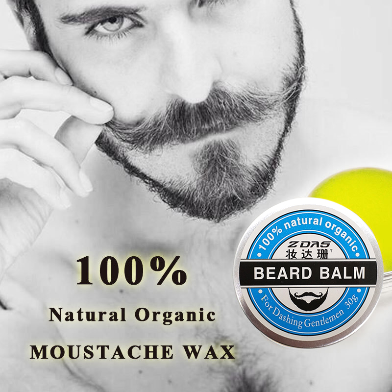 2018 New Beard Oil Balm Moustache Wax beard combgrooming conditioner beard balm for styling moisturizing smoothing gentlemen 2 3