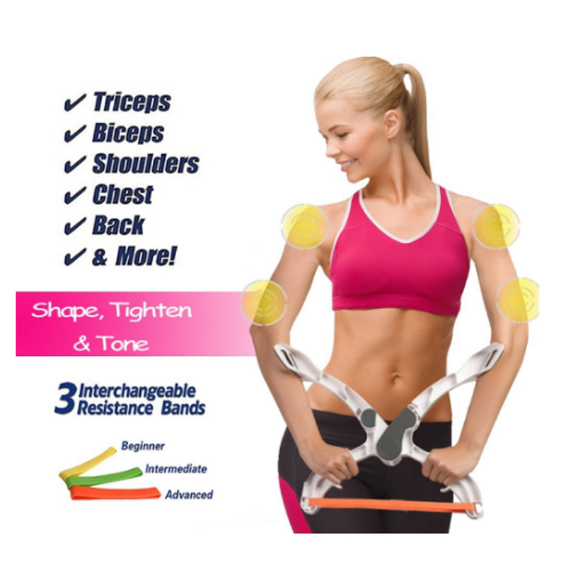 Exercise Bands Exercises Arms: Upper Arm Exercise Resistance Bands Fitness Body Workout