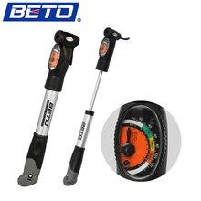 BETO Mini Portable Cycling Mountain Bike Bicycle Pump Tire Inflator Aluminium Alloy Air Pump with Pressure