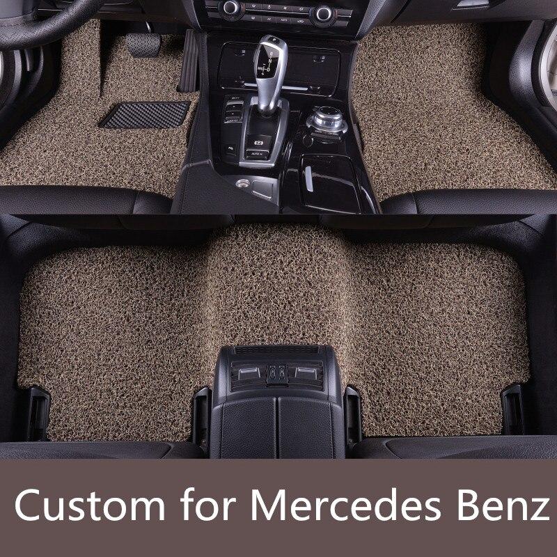 Car floor mats case for w211 w212 w204 w205 w176 w169 for Mercedes benz floor mats e350