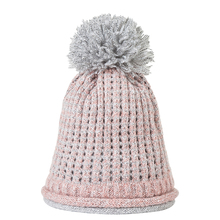 IANLAN 2019 New Winter Double-layer Hat Women Beanie Fashion Thickening Knitted Wool for Girls Pom Caps IL00062