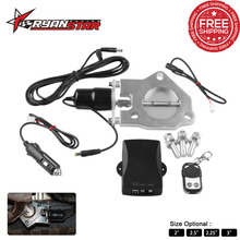 "2.25""/2.5""/3"" Stainless Electric Exhaust Downpipe Cutout Valve Motor Kit with Wireless Remote Control 12ft Wiring Harness"