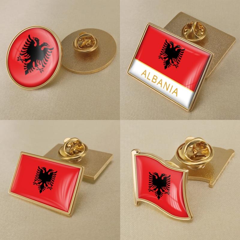 Герб Албании, Албанская карта, флаг, Национальная эмблема, брошь в виде цветка значки нагрудные знаки